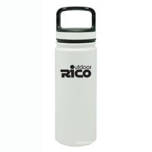 En acier inoxydable durable Sports vide bouteille blanc 18oz