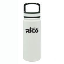 Durable Stainless Steel Vacuum Sports Bottle White 18oz