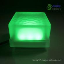 Brique colorée verte de 10 * 10mm 3W LED avec l'approbation de la CE RoHS