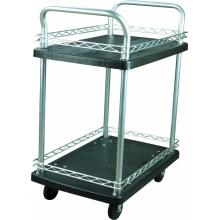 150kgs double layer Platform Hand Trolley (hitam)
