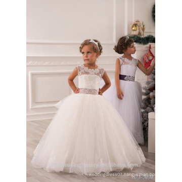 Latest Children Frocks Lace Long A Line Flower Girl Dresses Birthday Pattern Kids Party Dress LF21F
