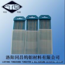 ISO9001 W-1 tungsteno electrodos de soldadura Wce20 Dia2.4 * 175