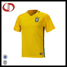 Custom Made Cheap Professional Yellow Soccer Jersey