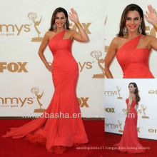 Red One Shoulder Irregular Mermaid Trumpet Floor Length Celebrity Dress Carpet/Party Gown