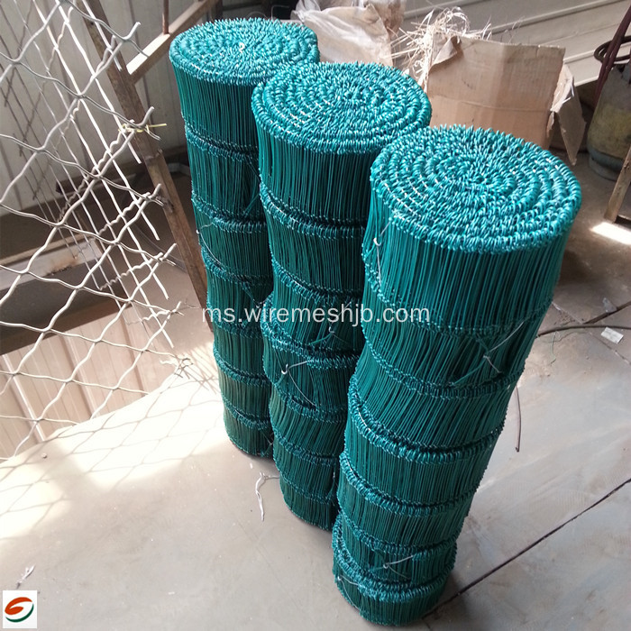 PVC Coated Atau Galvanized Double Tie Wire