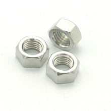 Galvanized stainless steel hexagon metal coupling thin nut size 6