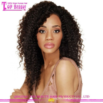 Sexy women remy mongolian human hair kinky curly full lace wigs