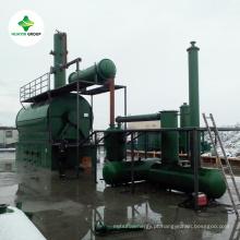 Desperdício yile do óleo de 90% destilação petroleira do OEM de PLÁSTICO do pneu à planta diesel