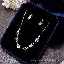 Wedding Bridal Silver Crystal Rhinestone Necklace