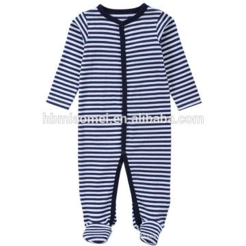 2017 Aliexpres heißer verkauf baby strampler langarm mit kapuze blau gestreiften baby onesie für klettern