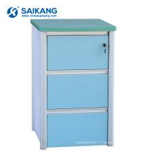 Cabinet en plastique de chevet d'entreposage de casiers d'ABS de SKS021 avec différentes couleurs