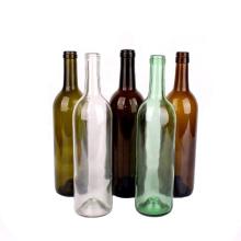 high quality empty 750ml colored round liquor bottle glass wine bottle wholesale