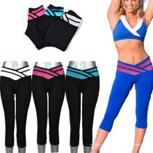 Arbeiten Sie kundenspezifische Sublimations-Frauen-Trainings-Yoga-Abnutzung für Sport um