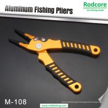 Alicates de pesca de alumínio com cortadores de carboneto de tungstênio