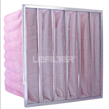 Galvanized steel frame HVAC industry pocket filter