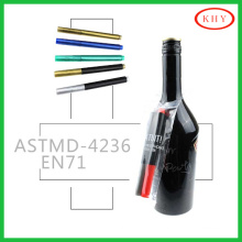 2015 hot sales glass medium wet erasable ink wine marker for party
