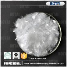 fibra de polipropileno de la materia prima de la mezcla concreta de la fibra del precio pp