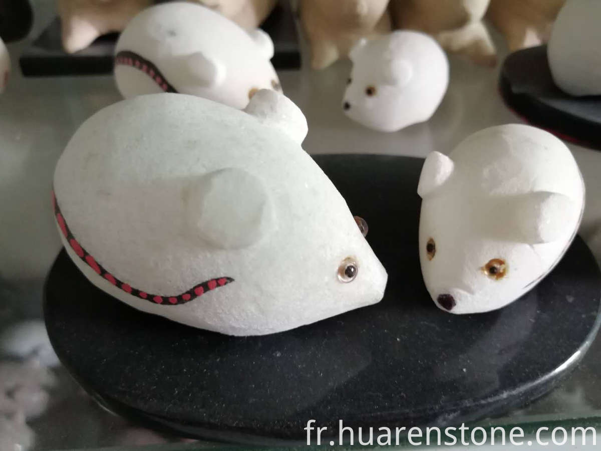 Mouse Sculpture Stone