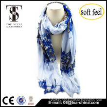2015 fashionable classic design china print viscose scarf china design shawl