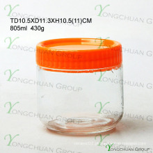Hot vendendo alta qualidade à prova de umidade garrafas de vidro selado frasco de vidro lanche de leite armazenamento vasilha conjunto