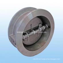 Aço inoxidável Body Wafer Válvula de retenção Primavera carregado