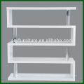 Modern MDF High Gloss White Bookshelf