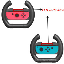 2pcs Upgrated Joy-con Steering Racing Wheel Handle Grip para Nintend Switch NS Nintendo Controller Acessórios com LED Indicator