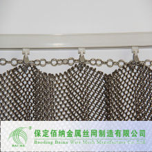 Free sample stainless steel mini chain link mesh for room divider (China supplier)