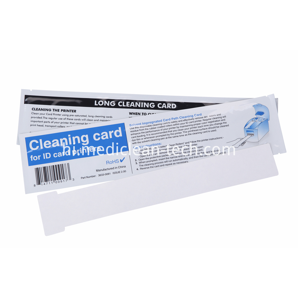 Magicard Long T Cleaning Cards 360mm