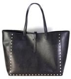 2014 New Fashion Womens Satchel Large Simple Tote PU Leather Rivet Design Handbag Vintage Single Shoulder Bag Big Messenger Tote Bags Sf0002