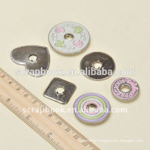 Cute painted metal snap button for kids