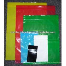 Durchsichtiger, farbenfroher Reißverschluss-Kunststoffbeutel