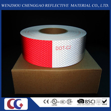 Red and White PVC Crystal Lattice Reflective Tape (C3500-B(D))
