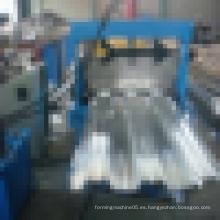 Hoja de la baldosa del metal de acero que forma el rollo que forma el precio de la máquina, rodillo de la placa del rodamiento del piso del metal de acero que forma la máquina
