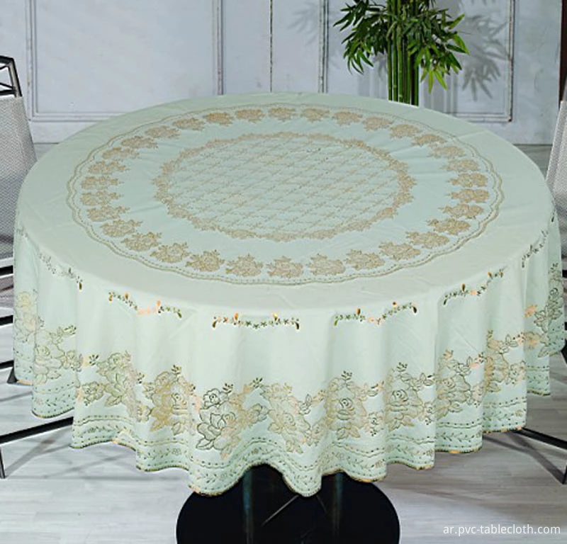 PVC LACE TABLECLOTH 1