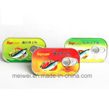 Top Quality 125g Canned Sardine in Brine in Plate Can