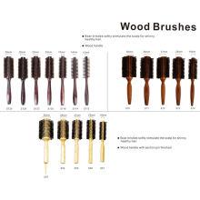 Escova de madeira de cerdas de varrão com vários tamanhos