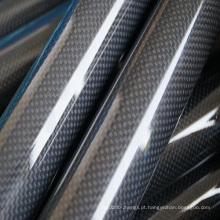 Tubo de fibra de carbono de tubo de vidro de carbono de baixo preço