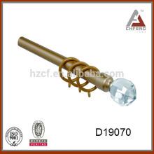 D19070 acabados de cristal de la barra de la cortina, bola de cristal de la decoración para el finial de la barra de cortina, barra de la cortina