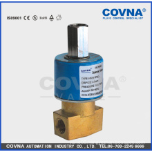 "direct acting 2 position 3 way medium water brass 220V 1/4"" normall close solenoid valve"