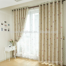 Polyester printed star baby nursery curtains