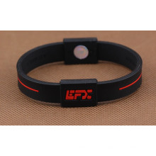 Embossed Logo Fashion Silicone Bracelet