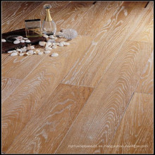 Pisos de madera de roble con diseño aceitado blanco cepillado impermeable