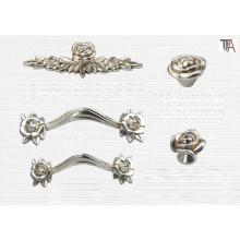Flower Shape Zinc Material for Cabinet Handles