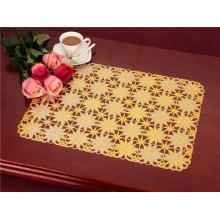 Tablemat popular quente do ouro do laço do PVC 38 * 55cm para o uso da casa / casamento / café