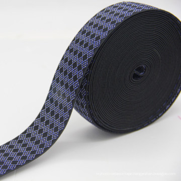 Fashion Design Jacquard Elastic Webbing, Polyester / Nylon / Cotton Elastic Ribbon / Strap for Belt