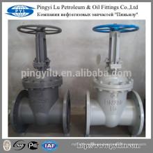 GOST de acero al carbono de la brida final de agua de gas de gas de tubería manual PN16 DN250 válvula de compuerta