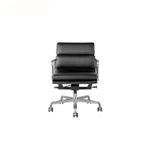 Läderbeklädnad Soft Pad Management Office Chair