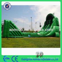 Tamaño inflable inflable line 20 * 6 * 8m 0.55mmPVC de la diapositiva de la diapositiva inflable línea para la venta