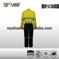 Ropa de seguridad reflectante de seguridad coverall hi vis workwear para hombre 100% tela de algodón AS / NZS 1906.4: 2010